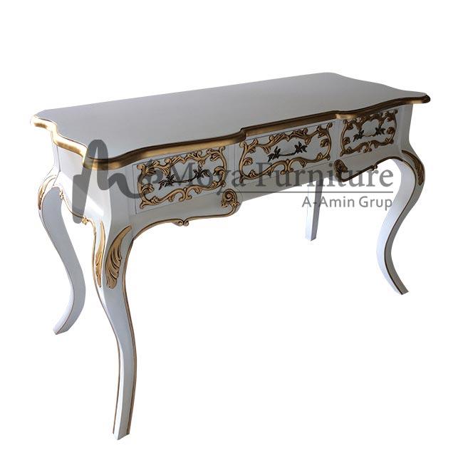 Antique writing desk white | Classic writing desk