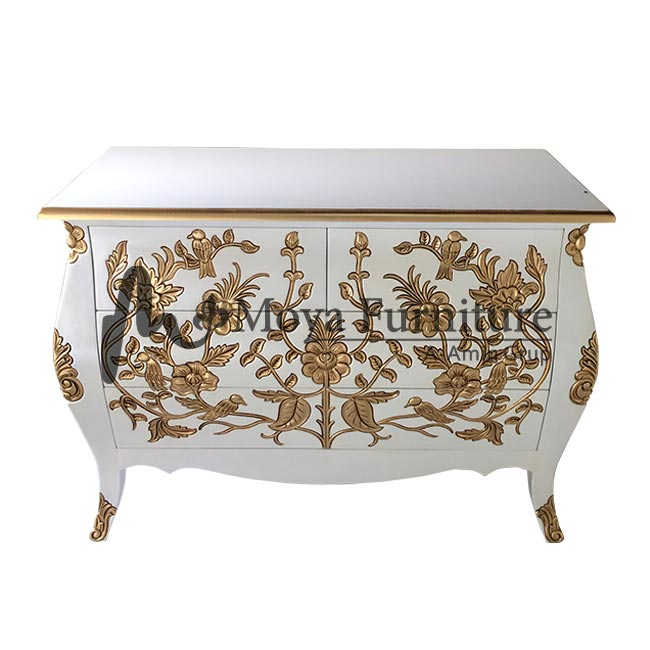 carved commode cabinet