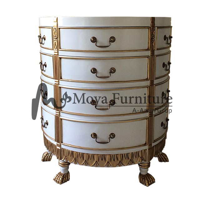 Sunburst chest of drawers - Antique chest of drawers