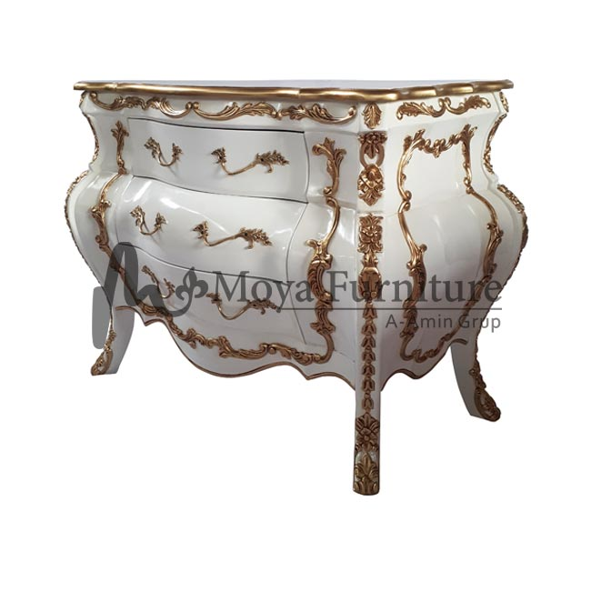 Carved bombe chest furniture